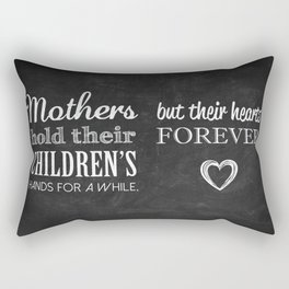 MOTHERS and CHILDREN Quote Artwork - Chalkboard Rectangular Pillow