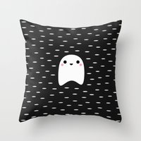 ghost Throw Pillows featuring Ghost by Elisabeth Fredriksson