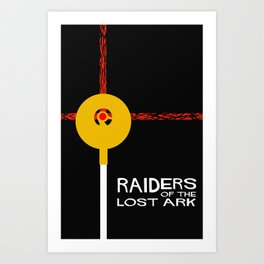 Raiders of the Lost Ark Minimal Movie Poster Art Print