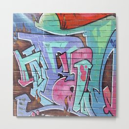 Graffitti Metal Print