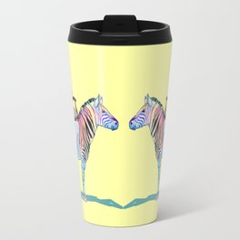 animals with chairs #4 Chair on a Zebra Travel Mug