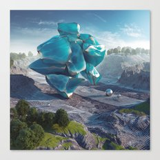 Blue Obsidian Canvas Print