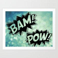 BAM POW Art Print