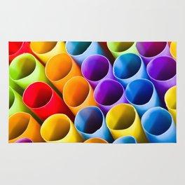 Macro Colorful Straws Rug