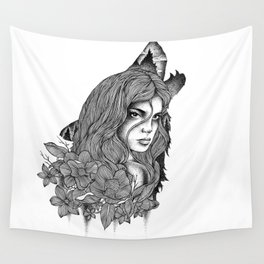 IN THE COMPANY OF WOLVES Wall Tapestry