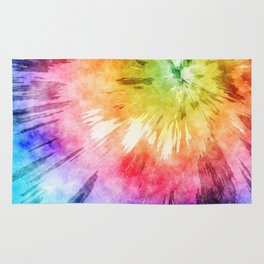 Tie Dye Watercolor Rug