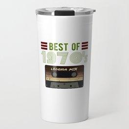 Best of 70s vintage Cassette gift for birthday Travel Mug