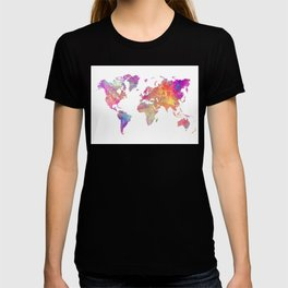 Map of the world #map #world T-shirt