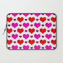 Love Hearts Pattern Laptop Sleeve