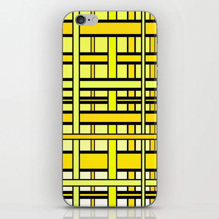 Yellow grid iPhone Skin