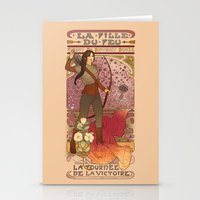 la Stationery Cards featuring La fille du feu by Megan Lara