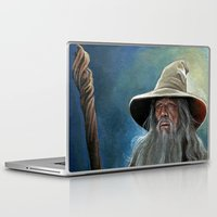 gandalf Laptop & iPad Skins featuring Gandalf the Grey by Manuela Mishkova