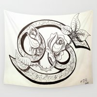 cancer Wall Tapestries featuring Cancer by Megan Dill