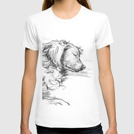 Dreaming Golden Retriever T-shirt