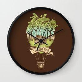 Feels like Home Wall Clock