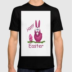 Happy Easter MEDIUM Mens Fitted Tee Black