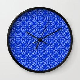 Sapphire Blue Shadows Wall Clock