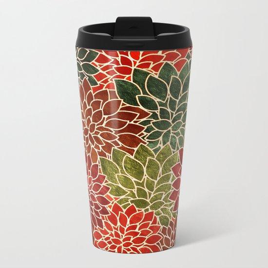 Floral Abstract 7 Metal Travel Mug