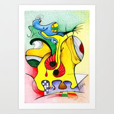 abstract-1 Art Print