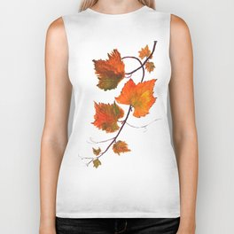 grapevine in autumn Biker Tank