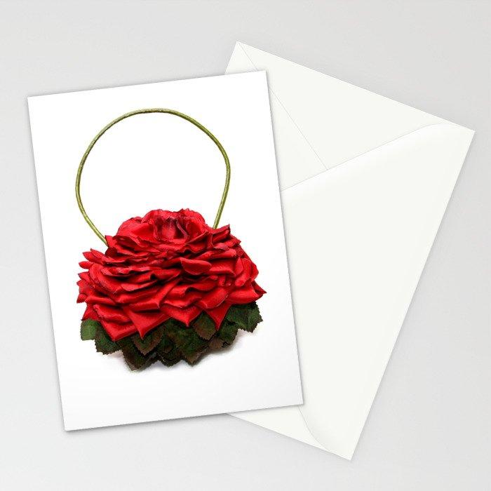Red Rose Handbag Stationery Cards