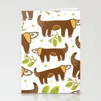 dogs Stationery Cards featuring Dogs by LOLIA-LOVA