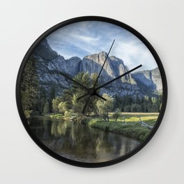 Yosemite Falls from Cook's Meadow Wall Clock