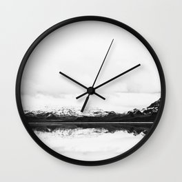 Black and white nature, Scandinavian, Minimal Wall Clock