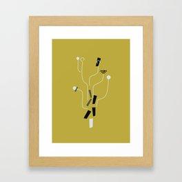 Clueless Bramble [Gold] Framed Art Print