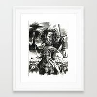 aragorn Framed Art Prints featuring Aragorn by Juan Pablo Cortes