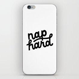 Nap Hard iPhone Skin