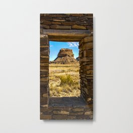 Faraday Butte at the Entrance to Chaco Canyon, New Mexico Metal Print