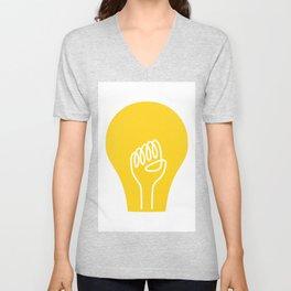 THE IDEA - cool art poster, Light, Scandinavian, Illustration, Fine Art, Cute Quirky Gift Unisex V-Neck