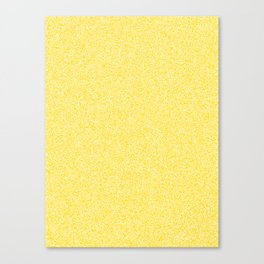 Melange - White and Gold Yellow Canvas Print