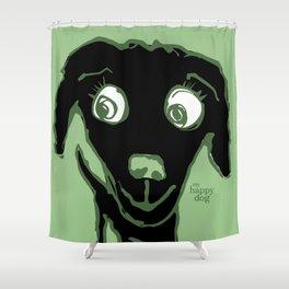 Thale - black/green Shower Curtain