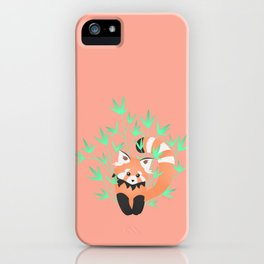 Baby Red Panda / Grapefruit iPhone Case