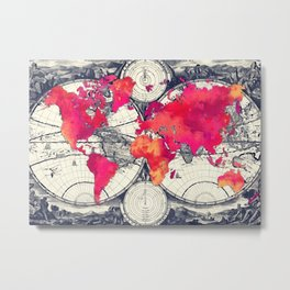 World map 10 #worldmap #map Metal Print