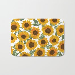SUNNY DAYS -sunflowers- Bath Mat