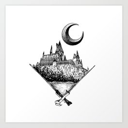 The wizards castle Art Print