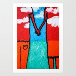 Togetherness 1 Art Print