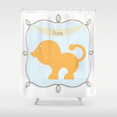 Fun at the Zoo: Lion Shower Curtain