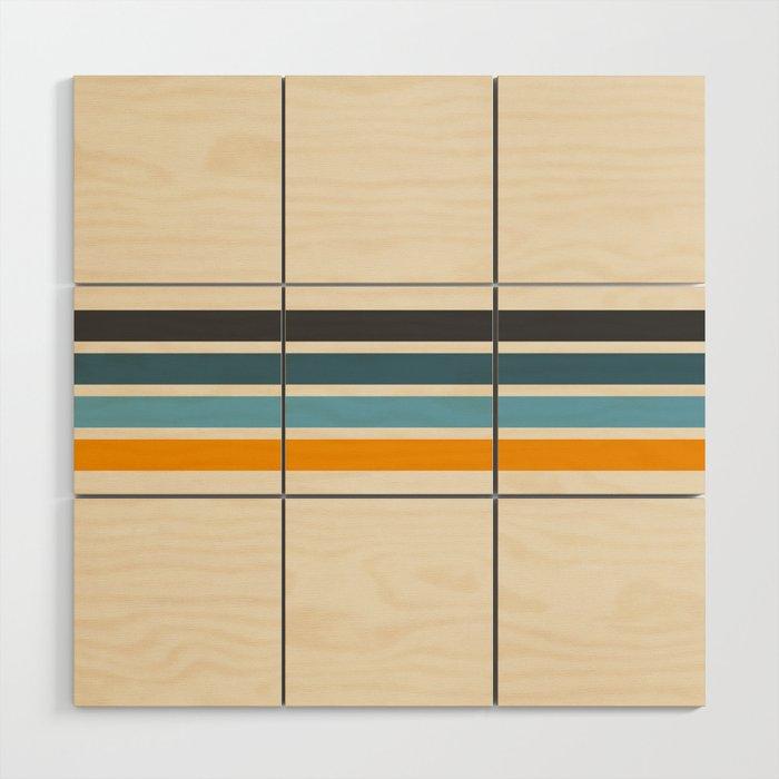 Vintage Retro Stripes Wood Wall Art