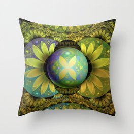 The Enchanted Feathers of the Golden Snitch Throw Pillow
