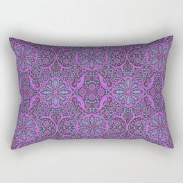 Poppy Pods Fuchsia and Turquoise Rectangular Pillow