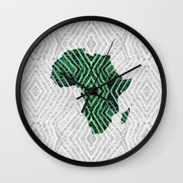 Africa in Green and Grey Wall Clock