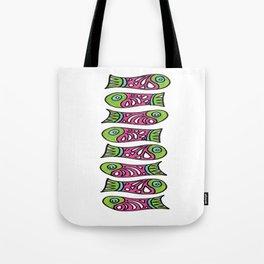Row Of Fish Tote Bag