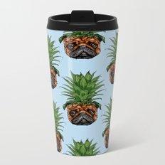 Pineapple Pug Metal Travel Mug