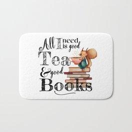 Tea & Books Bath Mat