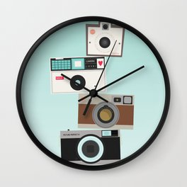 Retro Camera Print  Wall Clock