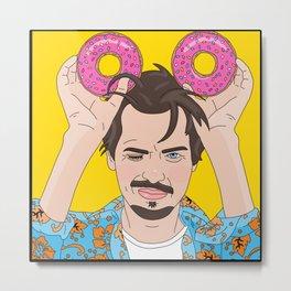 Steve Buscemi Donuts Metal Print